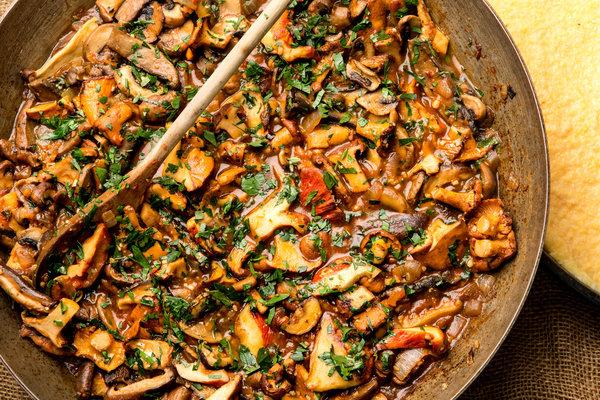 mâncare de ciuperci