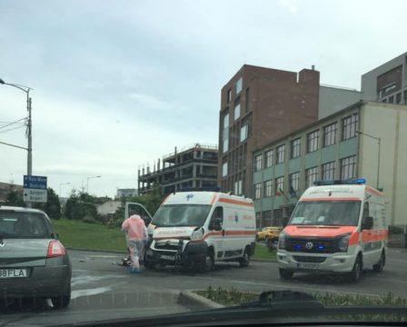 accident la intersecția străzii Avram Iancu cu Calea Turzii