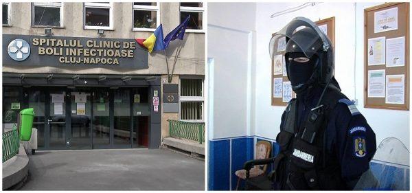 Romii din Dej s-au răsculat la Clinica de Contagioase Cluj! Jandarmii au intervenit. Motivul răscoalei