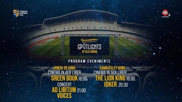 Cinema în aer liber, concert live Ad Libitum Voices la Spotlights At Cluj Arena 26-27 iunie