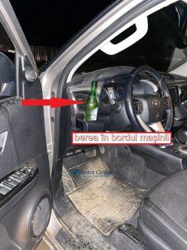 Berea desfăcută în bordul autovehiculului
