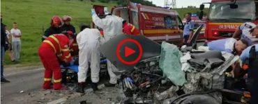 Accident grav în Alba. Două persoane au ajuns în stare gravă la spital VIDEO
