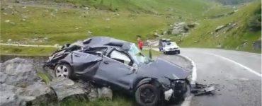 Accident grav pe Transfăgărăşan. O persoană a murit şi două au fost rănite. VIDEO