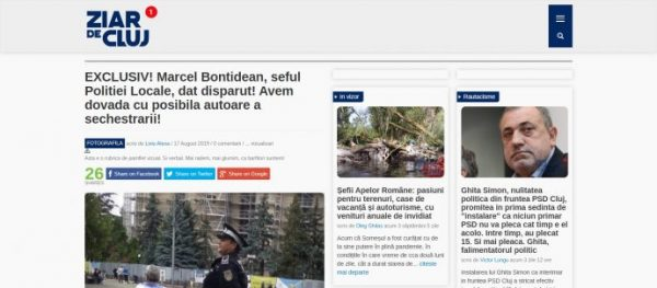 EXCLUSIV! Marcel Bontidean, seful Politiei Locale, dat disparut! Avem dovada cu posibila autoare a sechestrarii!