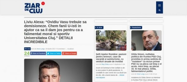 "Liviu Alexa: ""Ovidiu Vasu trebuie sa demisioneze. Chem fanii U-isti in ajutor ca sa il dam jos pentru ca a falimentat moral si sportiv Universitatea Cluj."" DETALII INCREDIBILE"