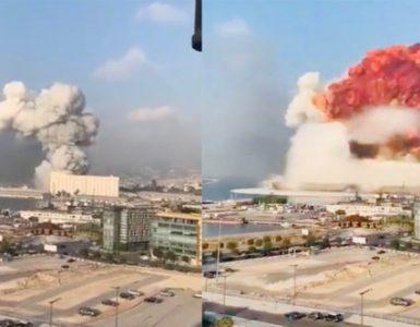 O explozie puternică a zguduit capitala libaneză Beirut VIDEO