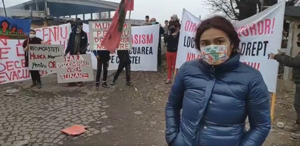"""Protest la Pata Rât. Oameni cer """"căși sociale"""". VIDEO"""
