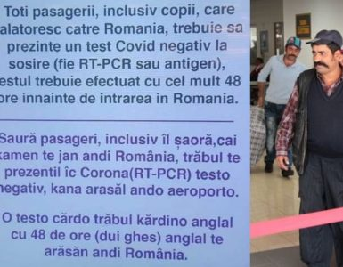 Conducerea Aeroportului Luton a fost nevoita sa amplaseze un anunt in limba rromani, din cauza ca un numar mare de cetateni de etnie rroma