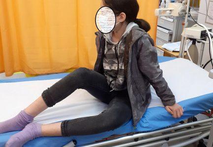 Copil mușcat de câini în Florești