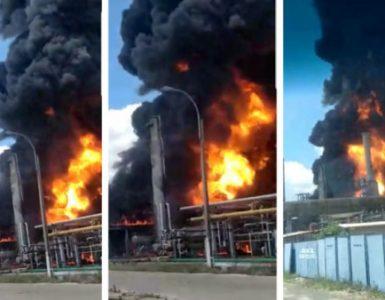 Explozie și incendiu la Rafinăria Petromidia Năvodari, mai multe persoane decedate